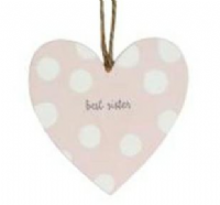 Gisela Graham -Best Sister Heart Hanging Decoration